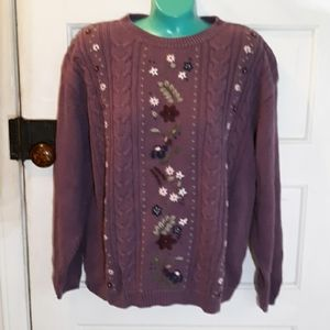 Vintage Northern Reflections XL purple sweater